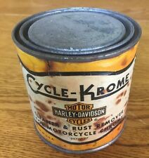 Rare Vintage HARLEY-DAVIDSON Motor Co. 1/2 Pint CAN of CYCLE-KROME Cleaner
