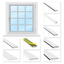2m Fenstersprossen Glassprosse selbstklebend Lippe schwarz & grau, PVC weiß