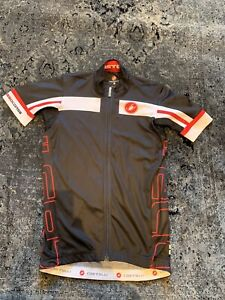 Castelli Rosso Corsa Cycling Jersey – Size Medium - Black Red