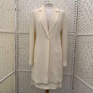 Vintage Ivory skirt jacket suit lined size 10-12