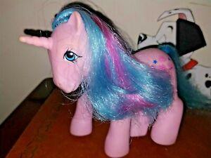 Hasbro My Little Pony G1 Vintage 1985 Pink Buttons, Blue Stars, Unicorn Horn