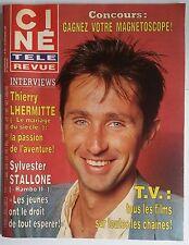 Ciné Télé Revue 26/9/1985; T. Lhermitte/ Stallone/ C. Rouvel/ Darry Cowl/ Jugnot