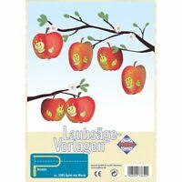 PEBARO Laubsägevorlage Äpfel mit Wurm