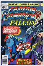 Captain America #221 VFNM Signed w/COA Steve Leialoha 1978 Marvel Comics PWC
