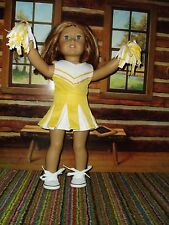 """4 pc Yellow Cheerleading Outfit fits American Girl 18"""" doll clothes Cheerleader"""