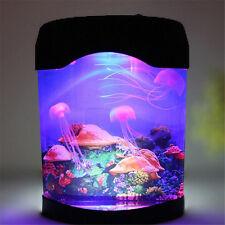 Colorful Sea World LED Glow Novelty Jellyfish Tank LED Night Light Lamp Decor