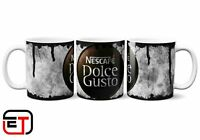 Nescafe Douce Gusto Coffee Distressed Look Mug And Coaster Gift Set
