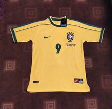 BNWT BRAZIL RETRO CLASSIC SHIRT JERSEY WORLD CUP FRANCE 98 RONALDO 9 1998 M L XL