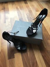 alexander mcqueen black sandals, used once, 7 uk, with box