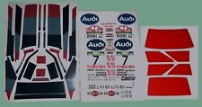 AUDI QUATTRO CUSTOM STICKERS DECALS WILL FIT MUST RC 1/10th TAMIYA KYOS LOSI