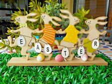 New Wooden Easter Bunnies Parade This is a Great easter Decoration.