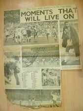 1966 World Cup Press Cutting- Headlines in World Cup.. Moments That Will Live On