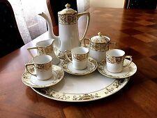 Exquisite Noritake Tea Set  Pot, Cream & Covered Sugar, 3 Cups w/saucer