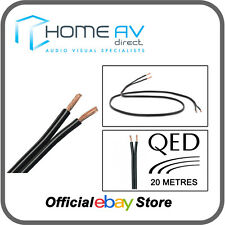 QED 42 Strand 20 Metres OFC Speaker Cable High Quality Copper- Black | C-42/20M