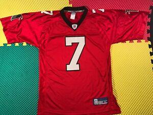 Michael Vick Atlanta Falcons #7 Reebok On Field NFL Red Jersey Men's Size Medium
