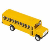Rhode Island Novelty - Pull Back Die-Cast Metal Vehicle - SCHOOL BUS (5 inch)