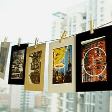 "10Pcs 3"" Cute Paper Photo Frame Wall Picture Album Hanging Rope Camp Home Decor"