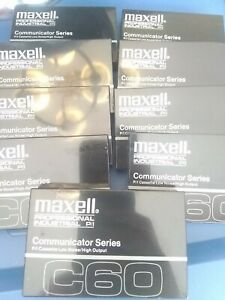 9  Maxell Communicator Series C60 Professional Cassette Tapes NEW free shipping