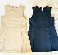 2- Izod Approved Schoolwear Girl's Jumpers Uniform Dresses Sz 18.5 Navy - Khaki
