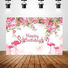 Pink flower background custom birthday newborn baby shower flamingo backdrops