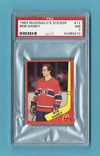 Bob Gainey Montreal Canadiens 1982 McDonalds Hockey Sticker #12 PSA 7 NM