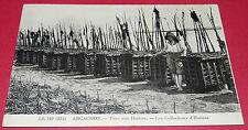CPA PHOTO IMPRIMEE LEON LEVY L.L. 140-312 ARCACHON PARC HUITRES OSTREICULTURE