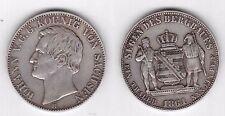 GERMANY SAXONY ALBERTINE - SILVER MINING THALER COIN 1861 YEAR KM#1212 JOHANN