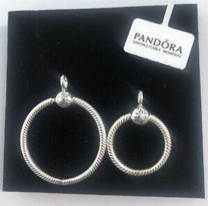 ALE S925 Genuine Silver Pandora Moments Small Medium O Pendant With Gift Box