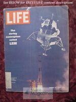 LIFE magazine March 14 1969 3/69 APOLLO MOON LEM ITALIAN BAUHAUS Les Halles