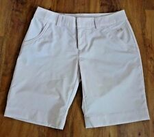 NWT UNDER ARMOUR WOMEN CREAM PIN STRIPED RELAXED FIT BERMUDA SHORTS SZ 6