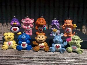 "Complete Lot of 10 CARE BEAR COUSINS 1"" Miniature Figure Christmas Ornament Mini"