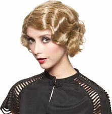 Morris Costumes Women's Gatsby Golden Blonde Finger Wave Wig One Size. MR177683