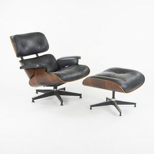 C. 1971 Herman Miller Eames Lounge Chair and Ottoman 670 671 Rosewood & Leather