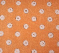 Letter Stitch J Wecker Frisch Quilting Treasures BTY Orange Polka Dot Buttons