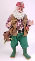 "2007 Possible Dreams Clothtique Santa Claus 11"" Figurine IT WAS THIS BIG Fishing"