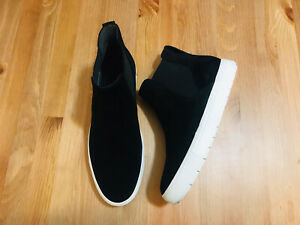 Vince Newlyn high top black suede ankle sneaker shoes NWOB size 7.5