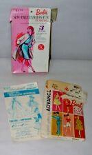 New Listing% 1960'S Mattel Barbie Sew Fashion Pattern In Original Box & More