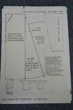 "Petty Chapman Paper Pattern - Russ Viking Coat - Tatar Style. 40"" Chest 102 Cm"