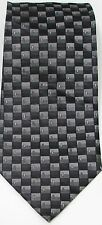 NEW Mens J. FERRAR 100% Silk Shades of Gray Geometric Squares Necktie Tie