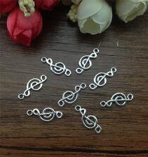 Wholesale 20pcs Tibet silver Music Charm Pendant beaded Jewelry Findings