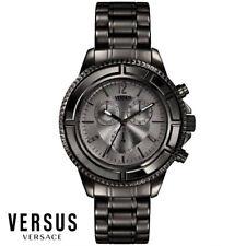b6a443a6d Versus By Versace SGN040013 Tokyo Cronógrafo Negro Acero Hombre Reloj Nuevo