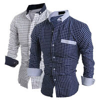 Fashion Men's Long Sleeve Casual Shirt Slim Fit Formal Dress Shirts Tops  New.
