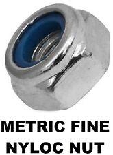 Qty 30 Metric Fine Hex Nyloc Nut M36 (36mm) 3.00mm Pitch Zinc Plated Insert ZP