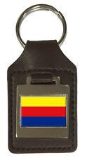 Leather Keyring  Engraved Noord-Holland Flag