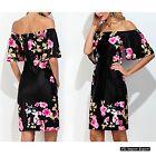 Vestito Abito Estate Donna Rose Spalle Nude Woman Summer Midi Roses Dress 110291