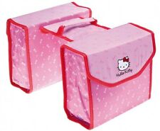 Hello Kitty Doppelpacktasche Fahrrad-Gepäckräger Kinder mit Tragegriff, Pink