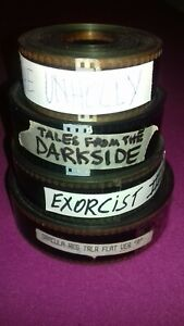 35MM HORROR TRAILER LOT 80's-DRACULA-TALES FROM THE DARKSIDE-UNHOLLY- EXORCIST 3