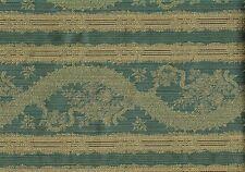 3.75 Yds Robert Allen Fabric Rare Elegance Ocean Blue Beige Brown  Upholstery