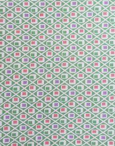 1 Yard Moda Quilt Fabric - 30's Playtime by Chloe's Closet - Green, Pink, Purple