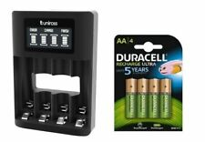UNiROSS SMART FAST LCD CHARGER 4 x AA  DURACELL 2500 mAh RECHARGEABLES - MUSB